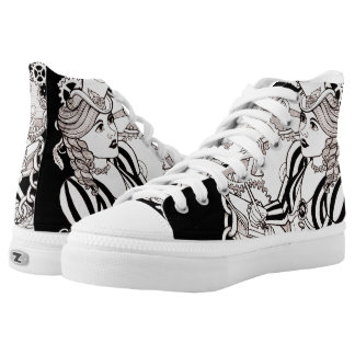 Cogs and Roses High Tops
