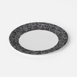Cogwheels pattern paper plate