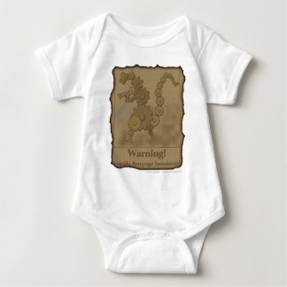 "CogzillA ""Warning!"" Baby Bodysuit"