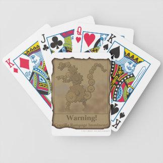 "CogzillA ""Warning!"" Bicycle Playing Cards"