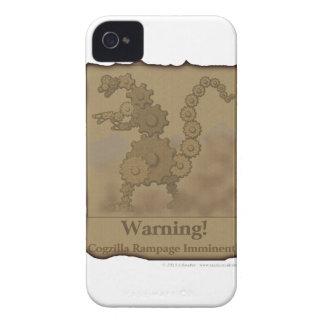 """CogzillA """"Warning!"""" iPhone 4 Case"""