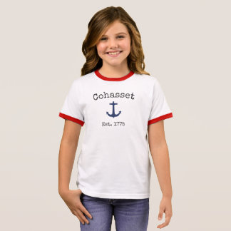 Cohasset Massachusetts Ringer T-shirt for girls