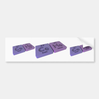 Coho as Co Cobalt and Ho Holmium Bumper Stickers