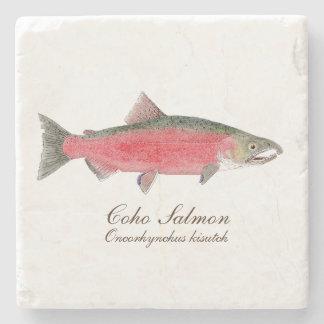Coho Salmon Coaster 93 of 4 salmon coasters0