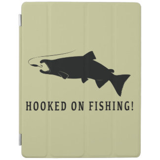 Coho Salmon Hooked on Fishing iPad Cover