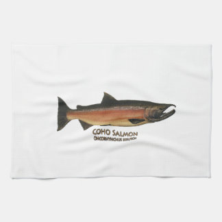 Coho - Silver Salmon (spawning phase) Tea Towel