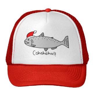 Cohohoho Christmas Salmon Doodle Cap