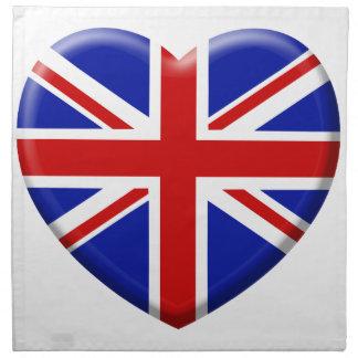 coil England flag Cloth Napkins