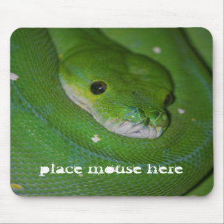 Coiled Exotic Green Snake Mouse Pad