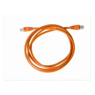 Coiled network cable postcard