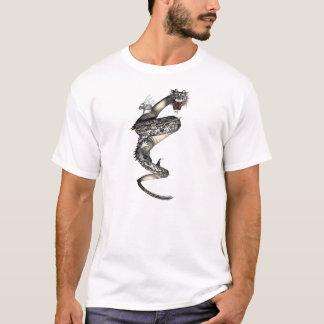 Coiled To Strike Dragon Asian Tattoo Fantasy Shirt