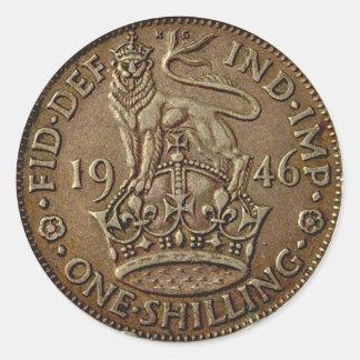 Coin 1 round sticker