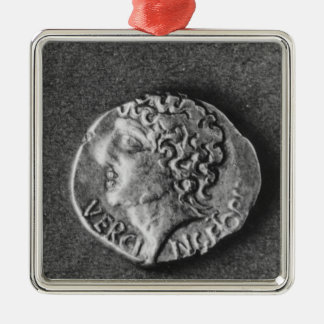 Coin bearing the effigy of Vercingetorix Christmas Ornament