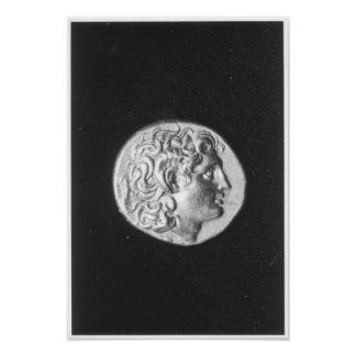Coin bearing the head of Alexander the Great Poster