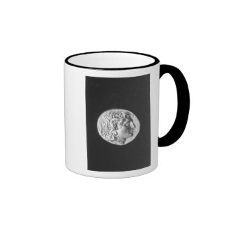 Coin bearing the head of Alexander the Great Ringer Mug