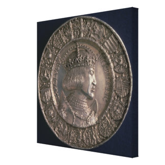 Coin bearing the portrait of Charles V Stretched Canvas Print