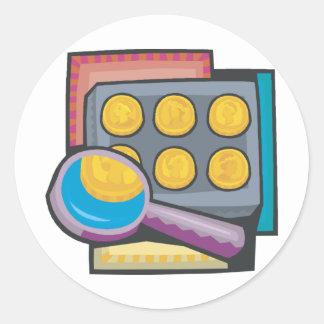 Coin Collector Round Sticker