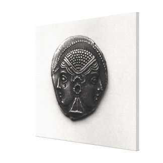 Coin from Lampsacus with a Janiform head Canvas Print