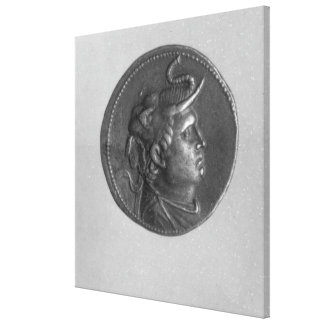Coin minted by Ptolemy I Gallery Wrap Canvas