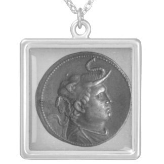 Coin minted by Ptolemy I Silver Plated Necklace