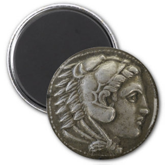 Coin of Alexander the Great 6 Cm Round Magnet