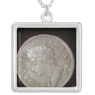 Coin of James II Silver Plated Necklace
