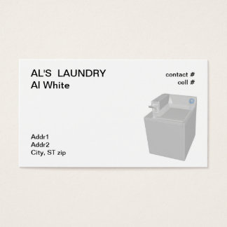 coin operated washing machine business card