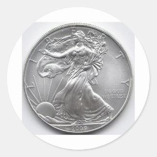 Coin Round Sticker