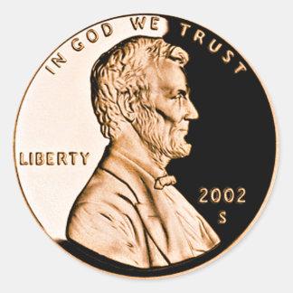 Coin Round Stickers