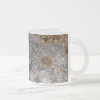 Coin Treasure Frosted Glass Mug
