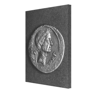 Coin with a portrait of Julius Caesar Canvas Prints