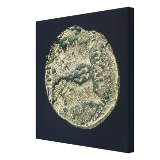 Coin with heads of Julius Caesar  and Augustus Stretched Canvas Prints