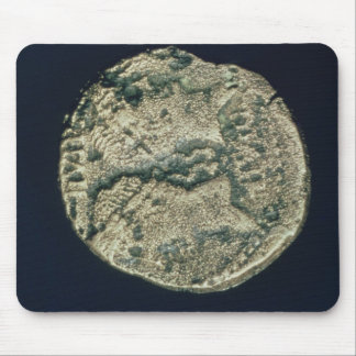 Coin with heads of Julius Caesar  and Augustus Mouse Pad
