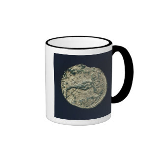 Coin with heads of Julius Caesar  and Augustus Ringer Mug