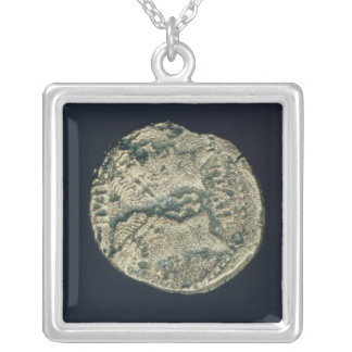 Coin with heads of Julius Caesar  and Augustus Silver Plated Necklace