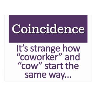 Coincidence Definition Postcard