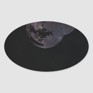 Coins and Constellations Oval Sticker