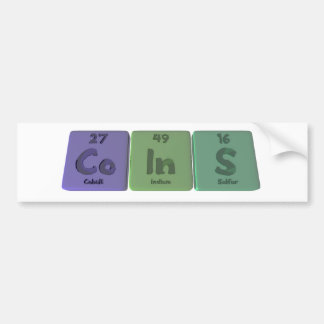 Coins-Co-In-S-Cobalt-Indium-Sulfur.png Car Bumper Sticker