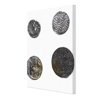 Coins of Cunobelinus or Cymbeline ,King of Mercia Stretched Canvas Print