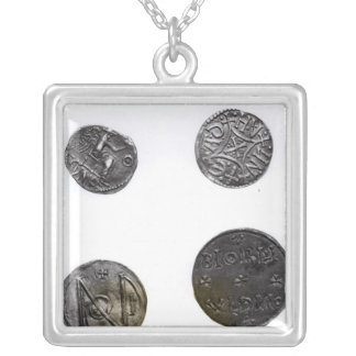 Coins of Cunobelinus or Cymbeline ,King of Mercia Silver Plated Necklace