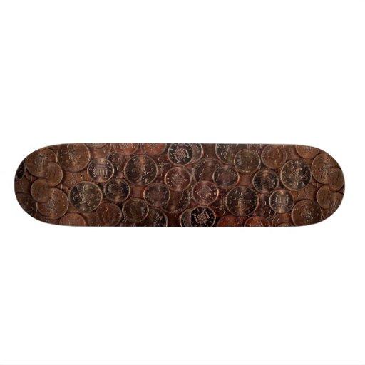 Coins Photo Skateboard Decks