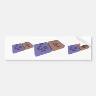Coir as Co Cobalt  and Ir Iridium Car Bumper Sticker