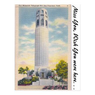Coit Memorial, San Francisco, California Postcard