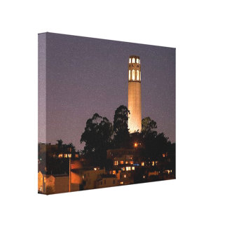 Coit Tower at Night Canvas Print