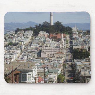 Coit Tower Scenic Picture Mouse Pad
