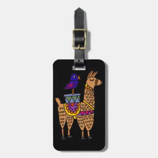 Col Llama with Colorful Blanket and Packages Luggage Tag