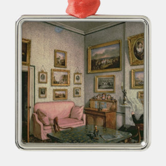 Col. Norcliffe's study at Langton Hall, c.1837 Christmas Ornament