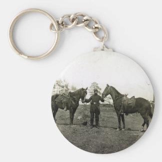 Col. Sharpe's horses Keychain