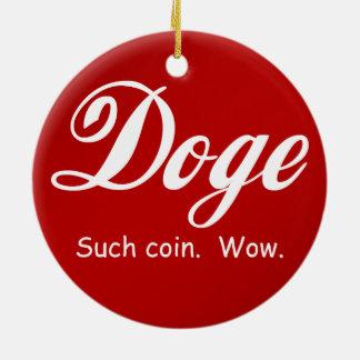 Cola Doge - Wow Round Ceramic Decoration