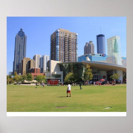 cola view of Downtown Atlanta Poster